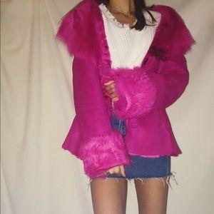 Jackets & Blazers - Pink sherling coat